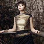 Safia Malvarosa - Completo in lame oro