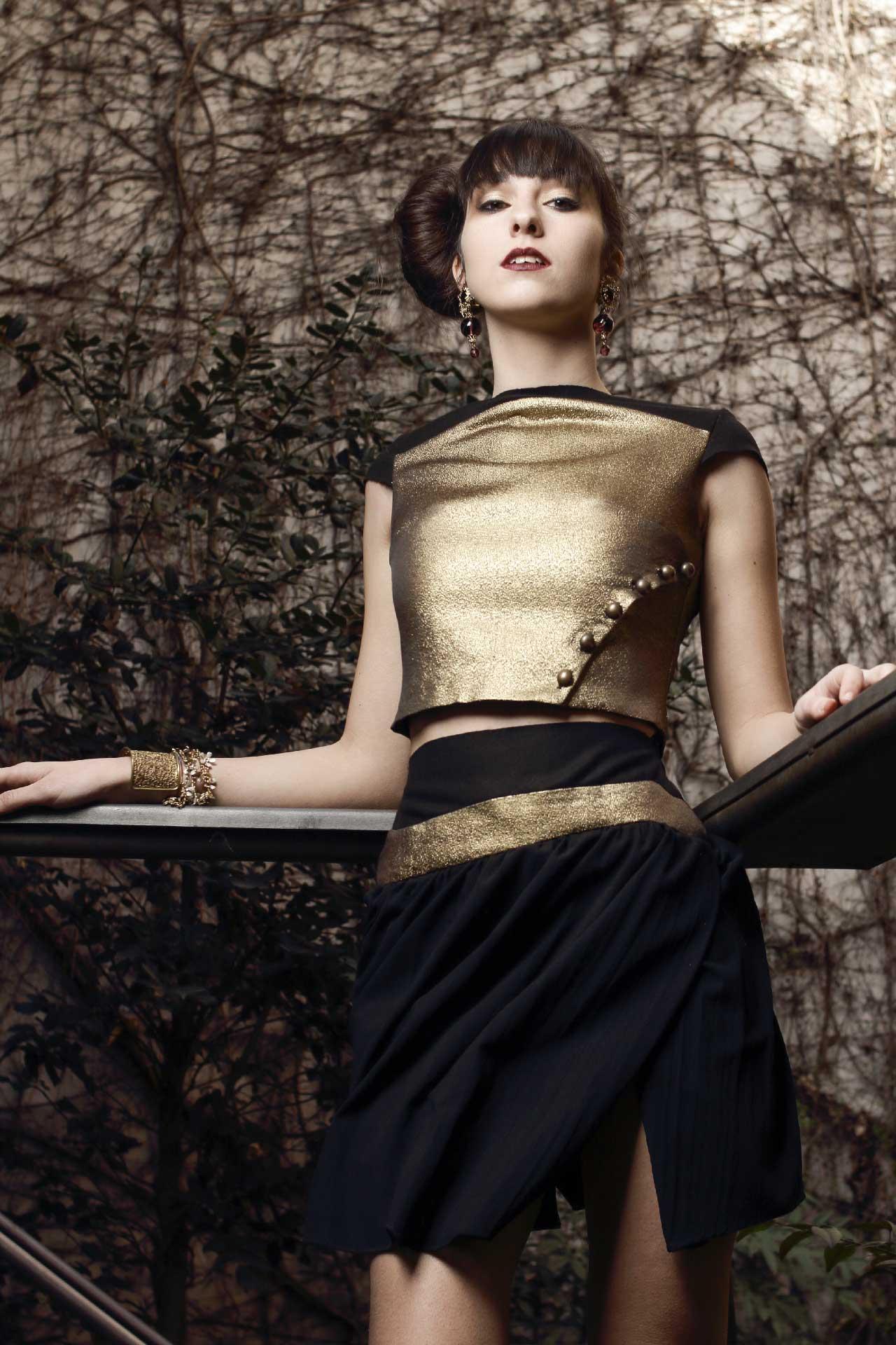 Safia Malvarosa - Completo in lamè oro