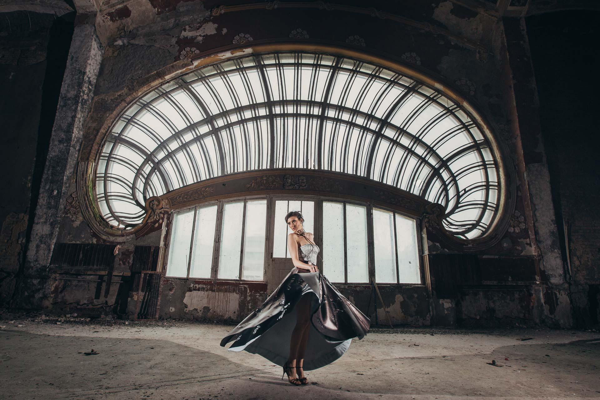 Safia Malvarosa - Pantalone in cotone nero a sacco